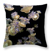 Monterey Aquarium Jellyfish Throw Pillow