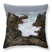 Monterey Bay - California Throw Pillow