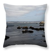 Monterey Bay View Throw Pillow