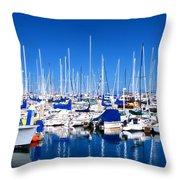 Monterey Bay Yacht Club 19704 Throw Pillow