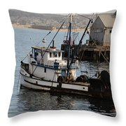 Monterey Fish Company Throw Pillow