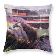Monterey Fisherman's Wharf Throw Pillow