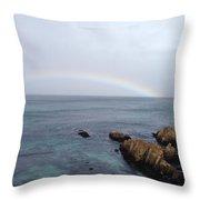 Monterey Rainbow Throw Pillow