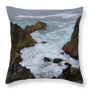 Monterey Rocks - California Throw Pillow
