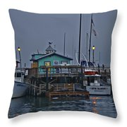 Monterey Wharf 2 Throw Pillow