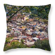 Monterosso From Above - Cinque Terre Throw Pillow