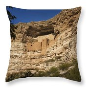 Montezuma Castle National Monument Az Dsc09056 Throw Pillow