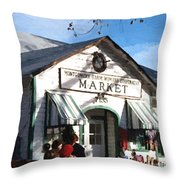 Montgomery County Market Throw Pillow