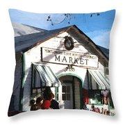 Montgomery County Market Throw Pillow