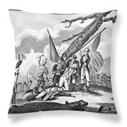 Montgomerys Death, 1775 Throw Pillow