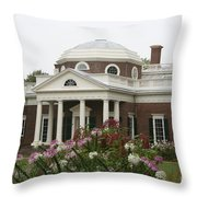 Monticello Estate Throw Pillow