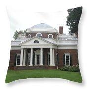 Monticello - Thomas Jeffersons Home Throw Pillow