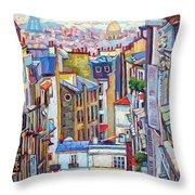 Montmartre View Throw Pillow