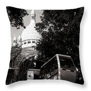 Montmartre Funicular  Throw Pillow