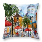 Montmartre Paris Throw Pillow