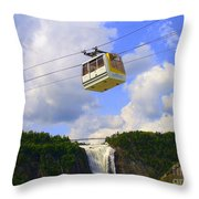 Montmorency Falls And Gondola Throw Pillow