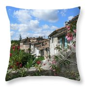 French Hilltop Terraces Throw Pillow by France  Art