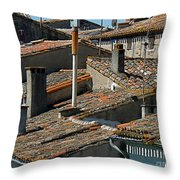 Tile Rooftops Of France Throw Pillow