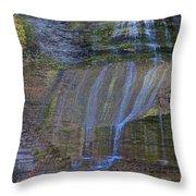 Montour Falls Fall Panorama Throw Pillow
