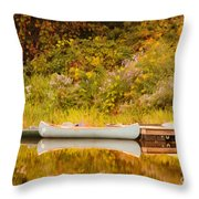 Montpelier Canoe Throw Pillow