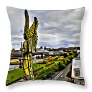 Montreal Angel Throw Pillow