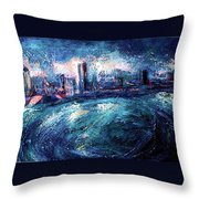 Montreal At Night Throw Pillow by Ion vincent DAnu