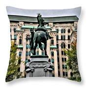 Montreal Boer War Memorial Throw Pillow