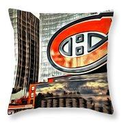 Montreal C Throw Pillow