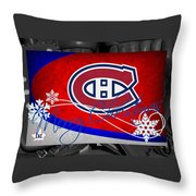 Montreal Canadiens Christmas Throw Pillow