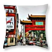 Montreal China Town Throw Pillow