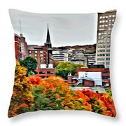 Montreal City Colors Throw Pillow
