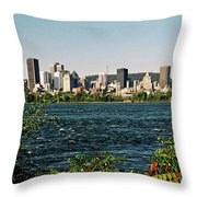 Montreal - Sur Le Fleuve  Throw Pillow