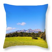 Montserrat Mountain Throw Pillow