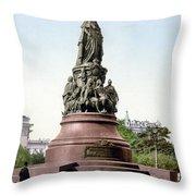 Monument Catherine II Throw Pillow