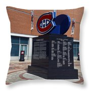 Monument For The Montreal Canadiens Throw Pillow