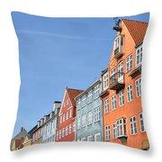 Monument In Copenhagen - Denmark Throw Pillow