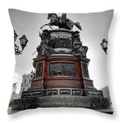 Monument To Russian Emperor Nicholas I In St . Petersburg . Russia Throw Pillow