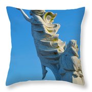 Monument To The Immigrants Statue 1 Throw Pillow