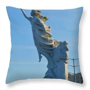 Monument To The Immigrants Statue 2 Throw Pillow