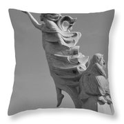 Monument To The Immigrants Statue 3 Throw Pillow