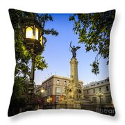Monument To The Marquis Of Comillas Cadiz Spain Throw Pillow