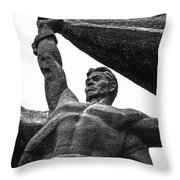 Monument To The People 0131 - Textured Pencil Throw Pillow