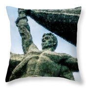 Monument To The People 0131 - Watercolor 1 Throw Pillow