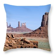 Monument Valley 10 Throw Pillow