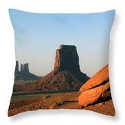 Monument Valley Afternoon Throw Pillow