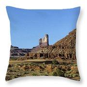 Monument Valley Arizona State Usa Throw Pillow