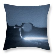 Monument Valley At Night 2 Throw Pillow