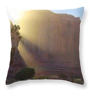 Monument Valley At Sunset 2 Throw Pillow