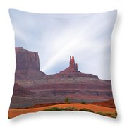 Monument Valley At Sunset Panoramic Throw Pillow