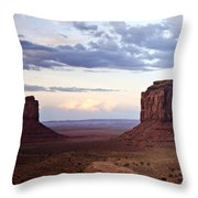 Monument Valley At Sunset Throw Pillow